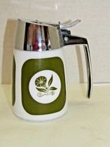Vintage Dispensers Inc. Ceramic Olive Green DripCut Server Morning Glory - $24.75