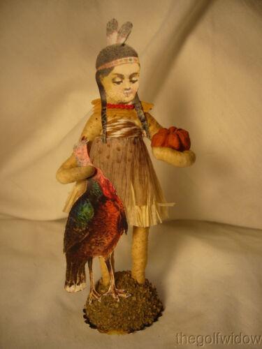 Spun Cotton Thanksgiving Native Girl Vintage by Crystal Tan Outfit