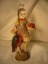 Spun Cotton Thanksgiving Native Girl Vintage by Crystal Tan Outfit image 1