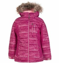 Free Country Girl's Boarder Jacket w/ Detachable Hood Quilted Outdoor Pink - $36.99
