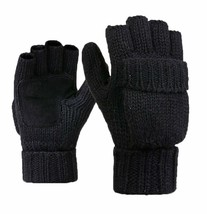 Men's Winter Gloves Mittens Fingerless Wool Gloves Double Thick Outdoor ... - $16.84