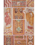 CHURCH PAINTINGS  12th C at Poitiers Apostles - 1888 COLOR Litho Print - $25.20