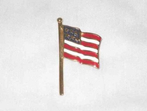 """Lot 9 Great 2"""" Figural Flag Pin Stars And Stripes"""