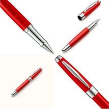 Zenzoi Red On Silver Rollerball Pen Set-0.5Mm Fine Ballpoint Pen-Classic... - $52.83+