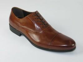 Kenneth Cole Dress Shoes Chief Council Leather Cap toe Oxford Cognac KM45224LE  - $104.99
