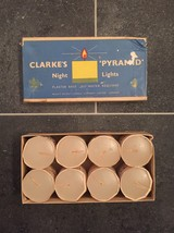 "Complete Set of 8 Clarke's ""Pyramid"" Night Lights (Candles)-RARE in original box"