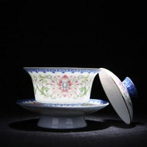 Hand Made Embossed Gaiwan Kung Fu Tea Set Tea Pot - $46.95