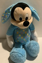 "Mickey Mouse 16"" Blue Easter Bunny Plush Stuffed Animal Disney Just Play... - $22.99"