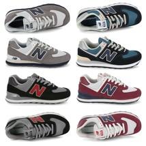 New Balance 574 Herren Sneakers Rot/Schwarz/Blau/Grau - $97.92