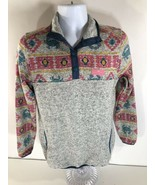 Simply Southern Women's Knit Pullover Jacket Heather Gray Crab Pineapple... - $26.13