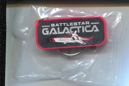 Battlestar Galactica Key Ring Fob 12/1996-promo item-still sealed-VF - $18.62