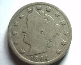 1894 LIBERTY NICKEL VERY GOOD VG NICE ORIGINAL COIN FROM BOBS COINS FAST... - $32.00
