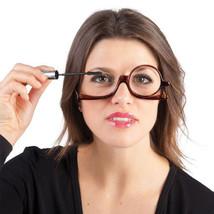 Rotating Makeup Glasses Magnifying Glasses Cosmetic Folding Eyeglasses T... - $11.71