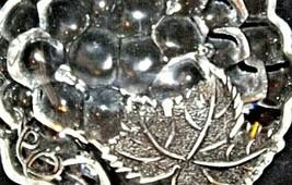 Concord Grape triangular Glass Candy Dish AA19-LD11934 Vintage image 2