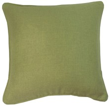 "2 X Green Woven Piped Edge 22"" 55CM Cushion Covers - $27.41"