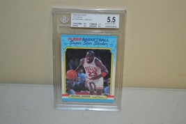 1988-1989 Fleer Basketball Sticker #7 Michael Jordan BGS Beckett 5.5  - $14.84