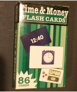 TIME MONEY FLASH CARDS 86 cards Flash Kids read clocks count EXCELLENT C... - $2.95