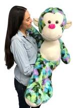 Big Stuffed Monkey 40 inches 102 cm Soft  Multicolor Large Plush Animal ... - $127.11