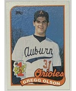 1989 TOPPS No. 1 Draft Pick #161 Gregg Olson Rookie Card Baltimore Orioles - $2.44