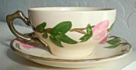 Franciscan Desert Rose Flat Cup and Saucer Set England Backstamp - $7.59