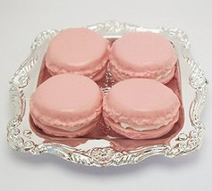 Pink Macarons Set of 4 with Tray Perfect for 18 Inch American Girl Dolls - $9.99