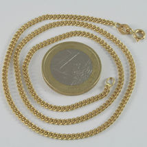 SOLID 18K YELLOW GOLD CHAIN MASSIVE GOURMETTE LINK, FLAT NECKLACE, MADE IN ITALY image 4