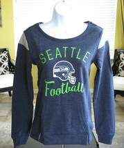 NFL Team Apparel Women Juniors Classic Crew French Terry Pullover, Sz XS Shirt - $33.66