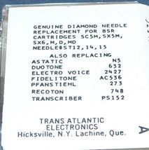 273-DS73 PHONOGRAPH RECORD NEEDLE for BSR ST12 ST14 ST15 BSR SC5M SX5M 78 RPM image 3