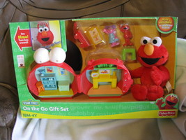 On the Go Gift Set Sesame Street.Never opened. Plush Elmo. 2009. Fisher-... - $50.00