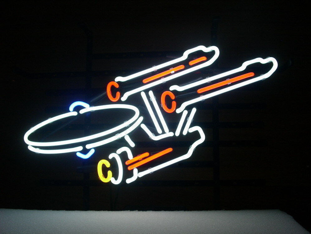 "New Star Trek Enterprise Space Ship Beer Bar Neon Sign 24""x20"""