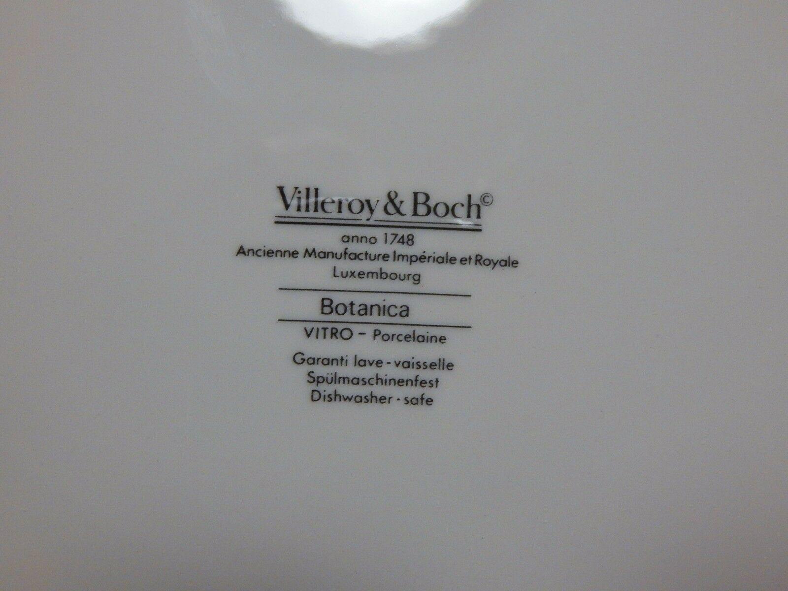 "Villeroy & Boch Botanica Chop Plate 12 1/4"" Nicotiana"