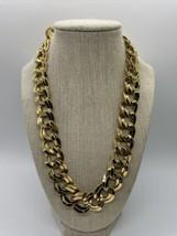 Vintage Goldtone Monet Large Link Necklace  - $39.59