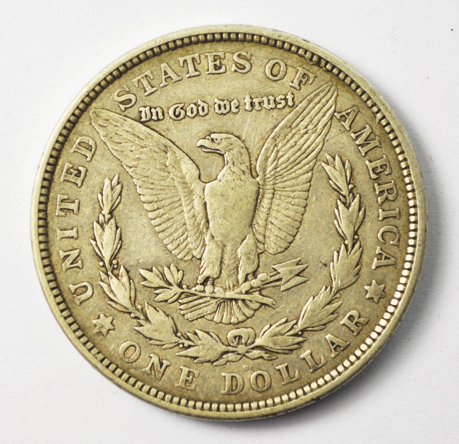 1921 D $1 Morgan Silver One Dollar US Denver VAM 4A Dot Die Break