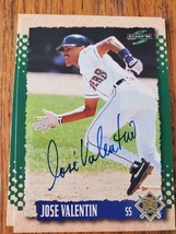 Jose Valentin ~ Mil Brewers ~ 95 Score ~ Signed Autographed Baseball Card - $2.93