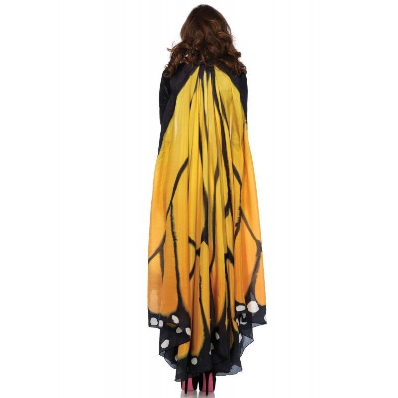 Festival Monarch Butterfly Wing Halter Cape Women's Halloween Costume Accessory