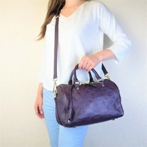 Louis Vuitton Aube/Violet Speedy Bandouliere 25 Empreinte Crossbody Bag - $1,599.00