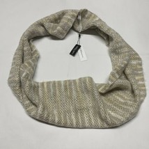 BCBGeneration Womens Infinity Loop Scarf Neutral Colors Tan Fuzzy Knit N... - $11.75