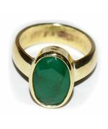 Natural Emerald Alloy Panchdhatu Ring 7 Carat Stone Size K,L,M,N,O,P,Q,R... - $46.33