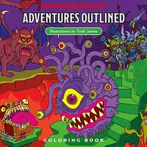 Dungeons & Dragons Adventures Outlined Coloring Book [Paperback] Wizards... - $15.60