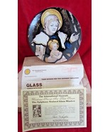 Christmas Stamp Plate 1980, Epiphany Stained Glass Window of Mother &  c... - $9.89
