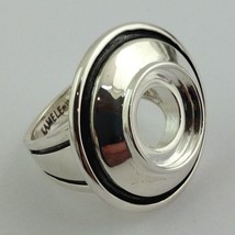 Authentic Kameleon 925 Silver Dome W/ Antiquing Ring Kr-27, Kr027 Sz 9, New - $56.99