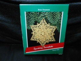 "Hallmark Keepsake ""Sparkling Snowflake"" 1989 Brass Ornament NEW  SEE DETAILS - $12.38"
