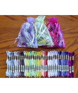 DMC NEW 35 COLORS FLOSS BUNDLE (35 skeins total) cross stitch floss  - $27.50