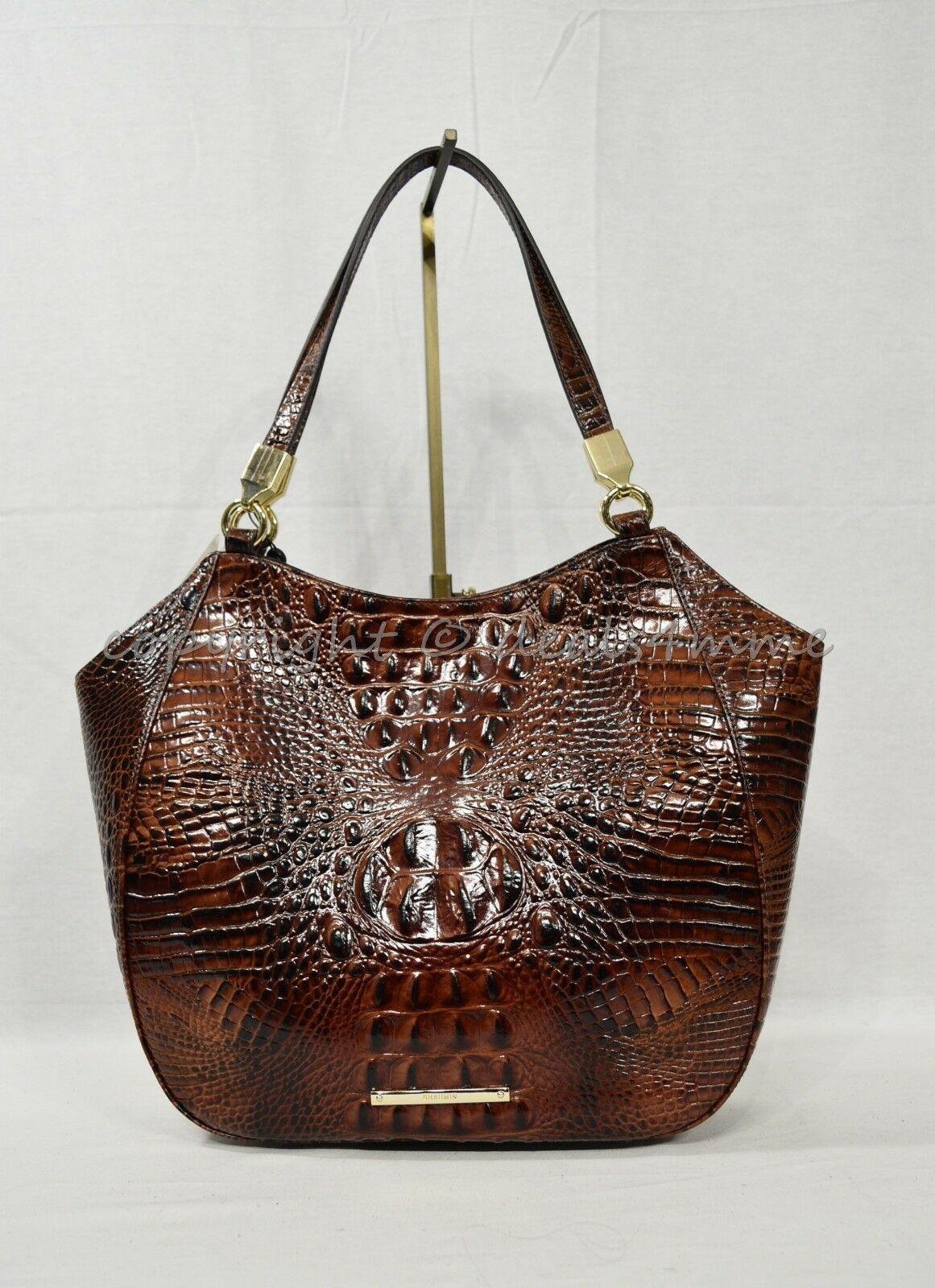 NWT Brahmin Marianna Leather Tote / Shoulder Bag in Pecan Melbourne image 2
