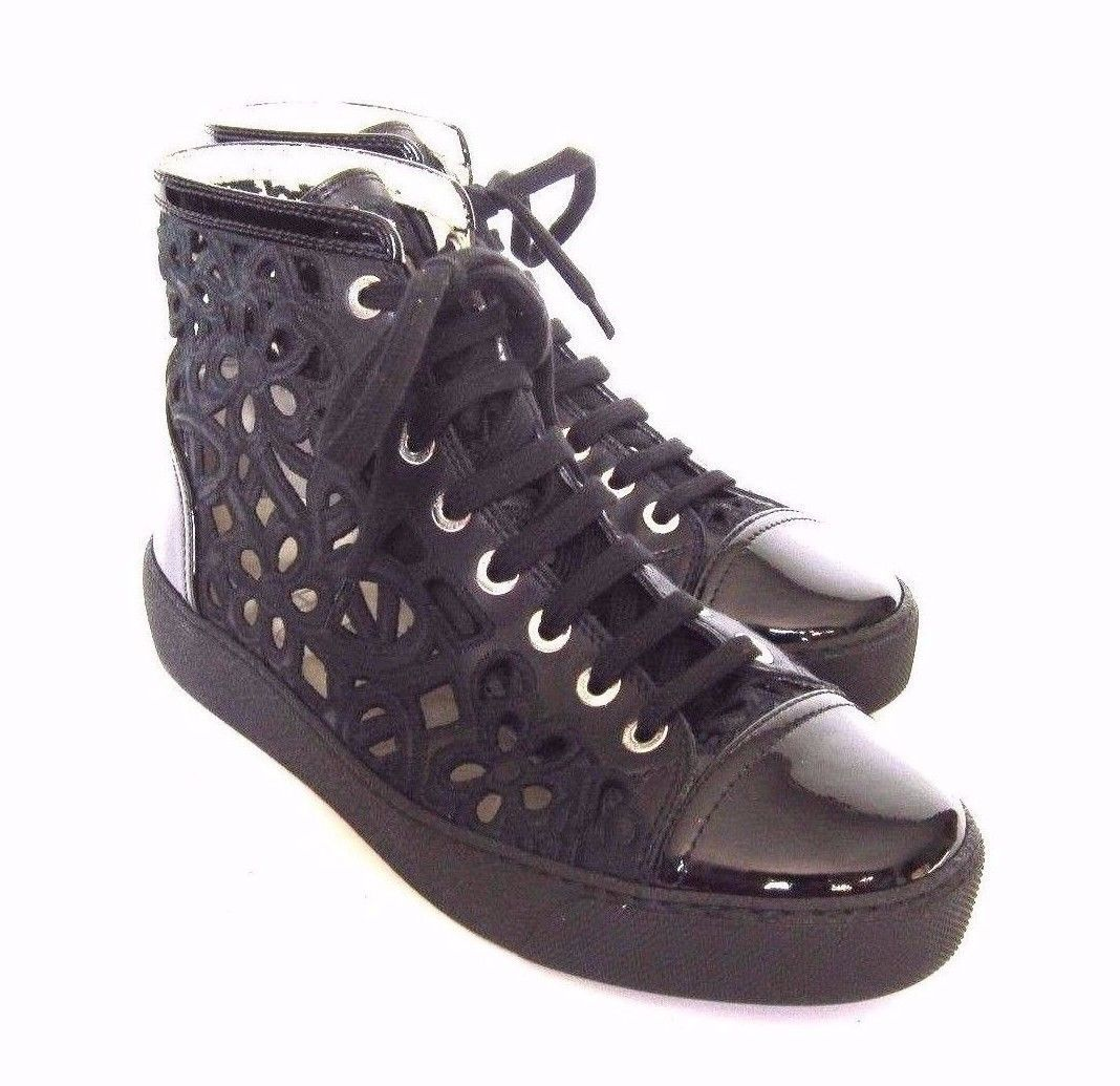 c8f49ffadb6 S-8489 New Chanel Black Laced HiTop Sneaker and 50 similar items