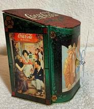 Old 1981 Coke Coca Cola X'max Tin Tank Cans Desk Table Music Box + Quartz Clock image 2