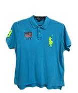 POLO by Ralph Lauren men's polo shirt United States USA Flag Big Pony si... - $26.28