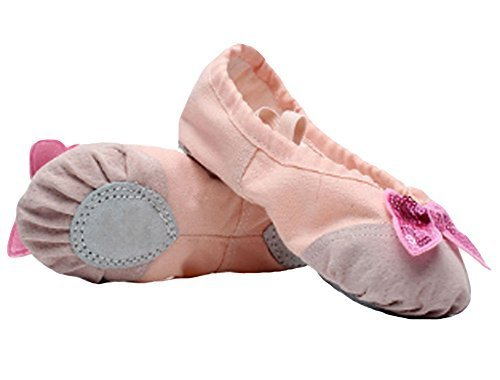 Ballet Shoes/Dance Shoes For Pretty Girl (21.5CM Length) Light Pink Bowknot