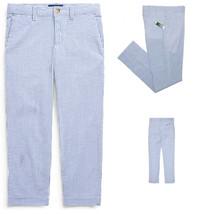 Ralph Lauren Boys  Skinny Fit Stretch Blue Seersucker Pants,10 - $24.74