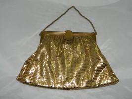 Vintage WHITING & DAVIS Gold Metal Mesh Evening Bag Coin Purse C - $39.60